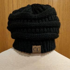 C.C. Black Knit Beanie